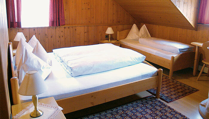 Pensione brunner in anterselva val pusteria for Affitti cabina sole valle
